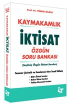 4T Yayınları Kaymakamlık İktisat Özgün Soru Bankası