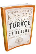 Benim Hocam Yayınları 2018 KPSS Lise Ön Lisans Türkçe Tamamı Çözümlü 27 Deneme