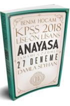 Benim Hocam Yayınları 2018 KPSS Lise Önlisans Anayasa Tamamı Çözümlü 27 Deneme