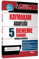 Hür Yayınları 2018 Kaymakam Adaylığı Tamamı Çözümlü 5 Deneme Sınavı