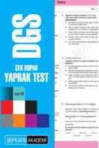 Pegem Yayınları 2018 DGS Çek Kopar Yaprak Test