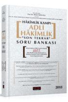 Savaş Yayınları 2018 Hakimlik Kampı Adli Hakimlik Son Tekrar Soru Bankası