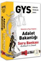 Yargı Yayınları GYS Adalet Bakanlığı Açıklamalı ve Çözümlü Soru Bankası