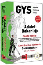 Yargı Yayınları GYS Adalet Bakanlığı Doğru Tercih Konu Özetli ve Açıklamalı Soru Bankası