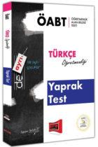 Yargı Yayınları ÖABT DE AYRI Türkçe Öğretmenliği Yaprak Test