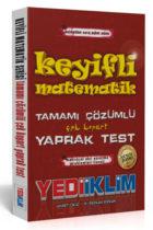 Yediiklim Yayınları KPSS Keyifli Matematik Tamamı Çözümlü Çek Kopar Yaprak Test Güncel Baskı