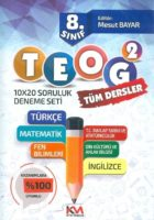 Kitap Madeni Yayınları 8. Sınıf TEOG 2 Tüm Dersler 10×20 Deneme