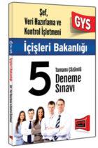 Yargı Yayınları GYS İçişleri Bakanlığı Şef Veri Hizmetleri ve Kontrol İşletmeni Tamamı Çözümlü 5 Deneme Sınavı