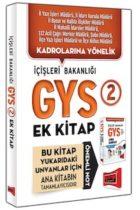 Yargı Yayınları GYS İçişleri Bakanlığı Konu Özetli Soru Bankası Ek Kitabı
