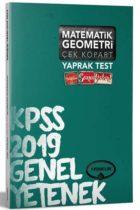 Yediiklim Yayınları 2019 KPSS Matematik Geometri Çek Kopart Yaprak Test