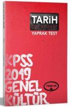 Yediiklim Yayınları 2019 KPSS Tarih Çek Kopart Yaprak Test