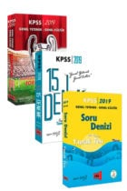 Yargı Yayınları 2019 KPSS Genel Yetenek Genel Kültür 3lü Soru Seti