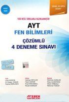 Esen Yayınları AYT Fen Bilimleri Çözümlü 4 Deneme Sınavı Mavi Seri