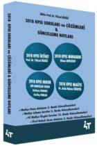 4T Yayınları 2018 KPSS Soruları ve Çözümleri Güncelleme Notları
