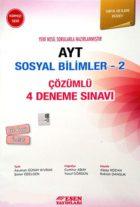 Esen Yayınları AYT Sosyal Bilimler 2 Çözümlü 4 Deneme Sınavı Kırmızı Seri