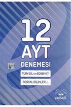 Endemik Yayınları AYT Türk Dili ve Edebiyatı Sosyal Bilimler-1 12 Deneme