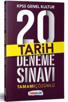 Yediiklim Yayınları KPSS Genel Kültür Tarih Tamamı Çözümlü 20 Deneme Sınavı
