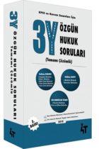 4T Yayınları 3Y Özgün Hukuk Soruları 3.Baskı