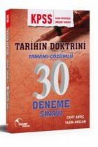 Doktrin Yayınları KPSS Tarihin Doktrini Tamamı Çözümlü 30 Deneme Sınavı