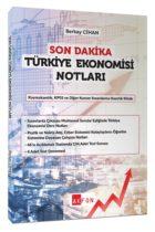 Akfon Yayınları Son Dakika Türkiye Ekonomisi Notları