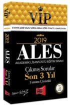 Yargı Yayınları 2019 ALES VIP Tamamı Çözümlü Son 3 Yıl Çıkmış Sorular