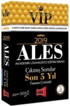Yargı Yayınları 2019 ALES VIP Tamamı Çözümlü Son 5 Yıl Çıkmış Sorular