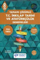 Yanıt Yayınları 8. Sınıf T.C. İnkılap Tarihi ve Atatürkçülük Tamamı Çözümlü Denemeleri