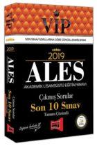 Yargı Yayınları 2019 ALES VIP Tamamı Çözümlü Son 10 Sınav Çıkmış Sorular