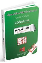 Yargı Yayınları 2019 KPSS Genel Kültür Coğrafya Çek Kopartlı Yaprak Test