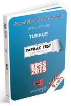 Yargı Yayınları 2019 KPSS Genel Yetenek Türkçe Çek Kopartlı Yaprak Test