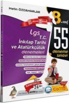Çanta Yayınları 8. Sınıf T.C. İnkılap Tarihi ve Atatürkçülük LGS 55 Deneme Sınavı