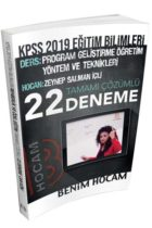Benim Hocam Yayınları 2019 KPSS Eğitim Bilimleri Program Geliştirme Öğretim Yöntem ve Teknikleri Tamamı Çözümlü 22 Deneme