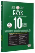 Editör Yayınları 2019 MEB EKYS Müdür ve Müdür Yardımcılığı 10 Deneme Sınavı