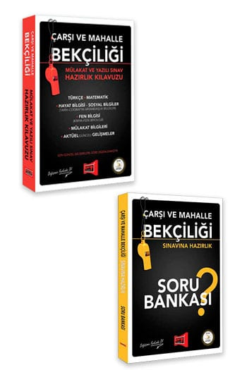 Yargı Yayınları Çarşı ve Mahalle Bekçiliği Sınavına Hazırlık Kılavuzu ve Soru Bankası Seti