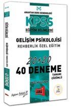 Yargı Yayınları KPSS Eğitim Bilimleri Gelişim Psikolojisi, Rehberlik Özel Eğitim Tamamı Çözümlü 40 Deneme