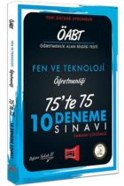 Yargı Yayınları ÖABT Fen ve Teknoloji Öğretmenliği 75'te 75 10 Deneme Sınavı