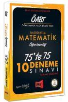 Yargı Yayınları ÖABT İlköğretim Matematik Öğretmenliği 75'te 75 10 Deneme Sınavı