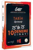 Yargı Yayınları ÖABT Tarih Öğretmenliği 75'te 75 10 Deneme Sınavı