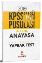 Doğru Tercih Yayınları 2019 KPSS'nin Pusulası Anayasa Çek Kopart Yaprak Test