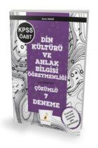 Pelikan Yayınları 2019 ÖABT Din Kültürü ve Ahlak Bilgisi Öğretmenliği 7 Çözümlü Deneme