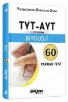 Ankara Yayıncılık TYT- AYT Biyoloji 60 Yaprak Test
