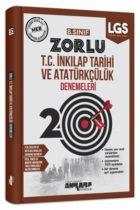 Ankara Yayıncılık 8. Sınıf T.C. İnkılap Tarihi ve Atatürkçülük 20 Zorlu Denemeleri