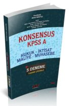 Savaş Yayınları KONSENSUS 2019 KPSS A Hukuk, İktisat, Maliye, Muhasebe 5 Deneme Tamamı Çözümlü
