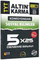 Altın Karma TYT Sosyal Bilimler Komisyondan 5×25 Deneme Sınavı
