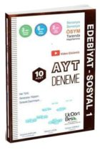 ÜçDörtBeş Yayınları AYT Edebiyat Sosyal-1 10 Deneme