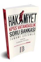Benim Hocam Yayınları 2019 KPSS Hakimiyet Vatandaşlık Tamamı Çözümlü Soru Bankası