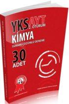 Zafer Yayınları AYT Kimya Tamamı Çözümlü Deneme 30 Adet