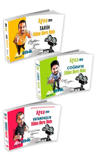 HocaWebde Yayınları 2019 KPSS Genel Kültür Video Ders Notu Seti