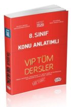 Editör Yayınları 8.Sınıf VIP Tüm Dersler Konu Anlatımı Kırmızı Kitap