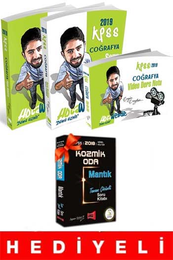 HocaWebde Yayınları 2019 KPSS Coğrafya Muhteşem 3'lü Set HEDİYELİ